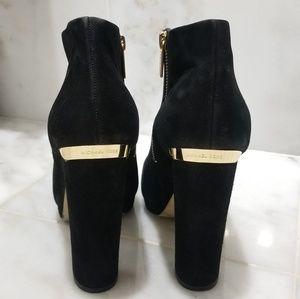 Michael Kors Shoes - Michael Kors Haven Black Suede Booties